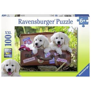 RAVENSBURGER puzzle (slagalice) - Psi spremni za putovanje RA10538