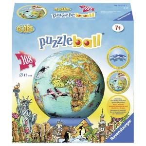 RAVENSBURGER 3D puzzle (slagalice) -  dečija mapa sveta RA12212