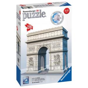 RAVENSBURGER 3D puzzle (slagalice) - triumfalna kapija u parizu RA12514
