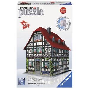 RAVENSBURGER 3D puzzle (slagalice) - srednjovekovna kuća RA12572