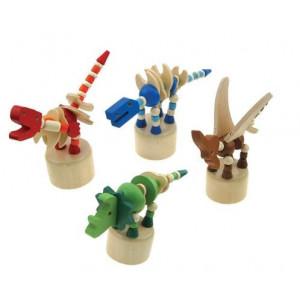 WOODY drveni dinosaurus 8 komada displej 91134