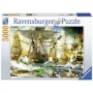 Ravensburger puzzle (slagalice) - Borba na otvorenom moru RA13969