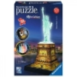 Ravensburger 3D puzzle (slagalice) - Statua Slobode nocno izdanje RA12596