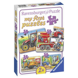 RAVENSBURGER puzzle - moje prve puzle, mašine RA06954