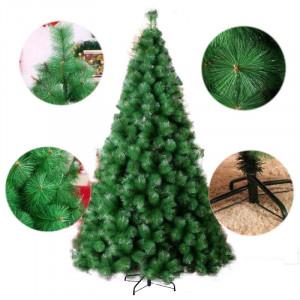 Novogodišnja lux jelka 120 cm Bor 773 tamno zelena sa Metalnim Postoljem*
