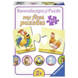 RAVENSBURGER puzzle - Moje prve puzle, 9 u 1, razne zivotinje RA06888