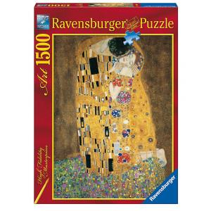"""RAVENSBURGER puzzle (slagalice) - Klimt """"Poljubac"""" 1500 RA16290"""