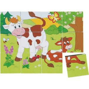 WOODY puzle od kocki 90248