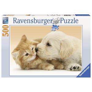 RAVENSBURGER Ravensburger puzzle (slagalice) - maca i kuca,veliki poljubac RA14172