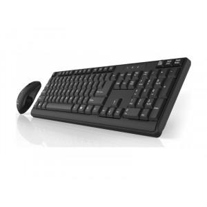 Tastatura i miš bežični USB Click KM-L2-W  YU, crni