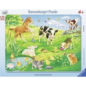 RAVENSBURGER puzzle - životinje na travi RA06119