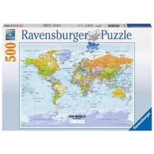 RAVENSBURGER puzzle (slagalice) - mapa sveta RA14755