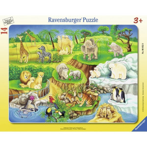 RAVENSBURGER puzzle - Životinje u zoo vrtu RA06052