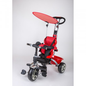Dečiji tricikl guralica sa tendom 02 crveni