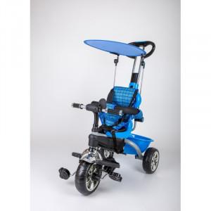 Dečiji tricikl guralica sa tendom 02 plavi