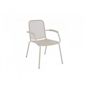 Baštenska metalna stolica Lopo - svetlo siva 879415 LOPO 047112
