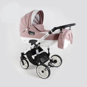 Adbor Ottis kolica za bebe beli ram set 2u1