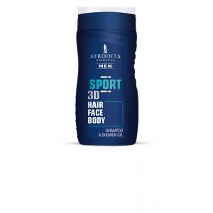 AFRODITA šampon & gel za tuširanje MEN SPORT 3D 250ml