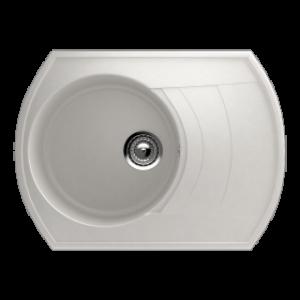 Granitna ULGRAN sudopera elipsa U-206 341 mlečno bela