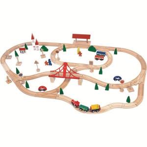 WOODY Set za zeleznicku prugu ukljucuje I most, 90 komada 90815