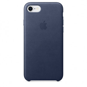 APPLE iPhone 8/7 Leather Case - Midnight Blue MQH82ZM/A