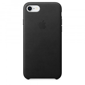 APPLE iPhone 8/7 Leather Case - Black MQH92ZM/A