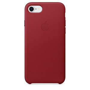 APPLE iPhone 8/7 Leather Case - (PRODUCT)RED MQHA2ZM/A