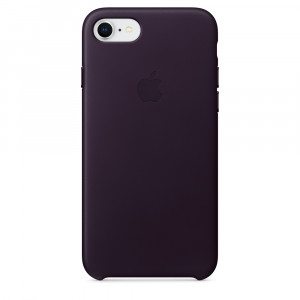 APPLE iPhone 8/7 Leather Case - Dark Aubergine MQHD2ZM/A