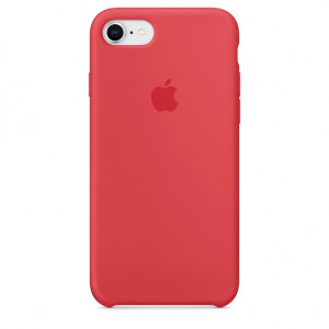 APPLE iPhone 8/7 Silicone Case - Red Raspberry MRFQ2ZM/A