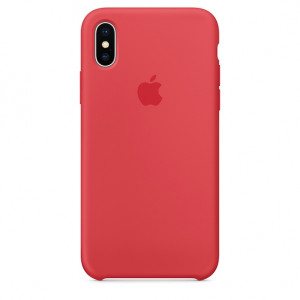 APPLE iPhone X Silicone Case - Red Raspberry MRG12ZM/A