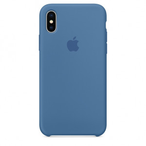 APPLE iPhone X Silicone Case - Denim Blue MRG22ZM/A