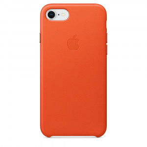 APPLE iPhone 8/7 Leather Case - Bright Orange MRG82ZM/A