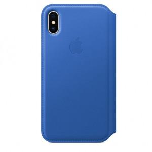 APPLE iPhone X Leather Folio - Electric Blue MRGE2ZM/A