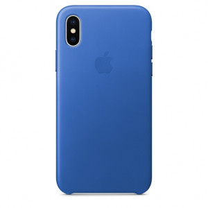 APPLE iPhone X Leather Case - Electric Blue MRGG2ZM/A
