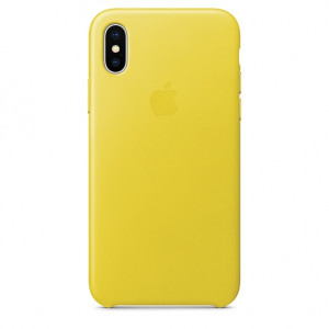 APPLE iPhone X Leather Case - Spring Yellow MRGJ2ZM/A