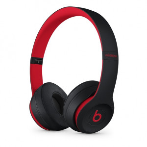 DR.DRE Beats Solo3 Wireless On-Ear Headphones - The Beats Decade Collection - Defiant Black-Red MRQC2ZM/A