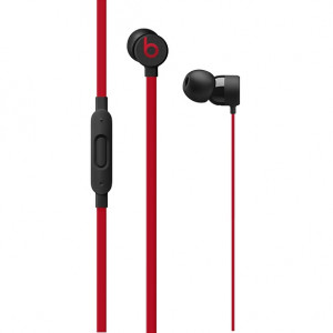 DR.DRE Beats urBeats3 Earphones with Lightning Connector - The Beats Decade Collection - Defiant Black-Red MRXX2ZM/A