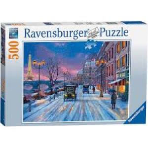 RAVENSBURGER puzzle (slagalice) - zima u Parizu RA14741