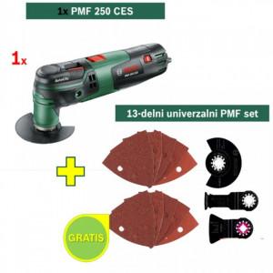 BOSCH MULTI ALAT PMF 250 CES + POKLON 13-delni univerzalni PMF set