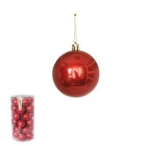 Novogodišnji ukras kugle crvene 5 cm pakovanje 30 komada 170525