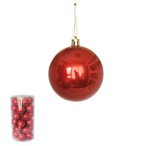 Novogodišnji ukras kugle crvene 6 cm pakovanje 30 komada 170526