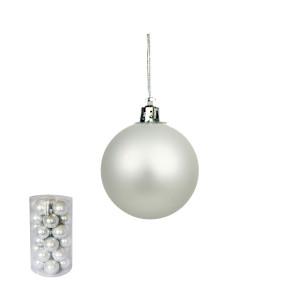 Novogodišnji ukras kugle srebrne 5 cm pakovanje 30 komada 170525