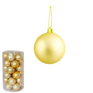 Novogodišnji ukras kugle zlatne 5 cm pakovanje 30 komada 170525