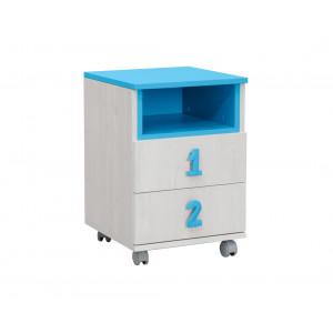 MATIS komoda Numero 2F niša - Plavo