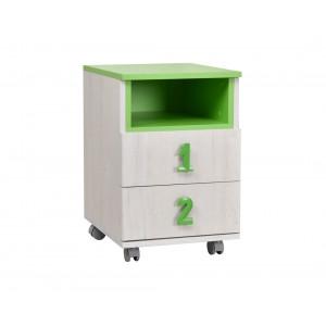MATIS komoda Numero 2F niša - Zeleno