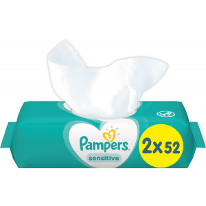 PAMPERS WIPES  BABY SENS.DUO PACK 2x52 8001841062334*1.9LAG