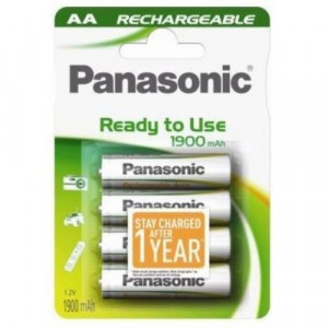 PANASONIC baterija HHR-3MVE/4BC 1900mAh Ready to use AA