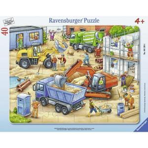RAVENSBURGER puzzle - velike konstruktivne mašine na gradilištu RA06120