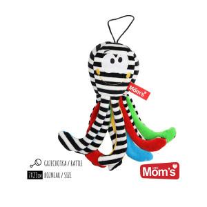 MOM'S CARE plišana hobotnica crno bela 998