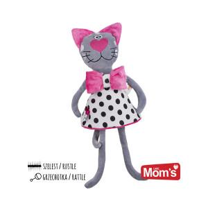 MOM'S CARE plišana mačka pink 963